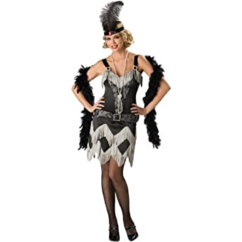 Sexy Flapper Costume Charleston Girl Fringe Dress 20s Costume, Black
