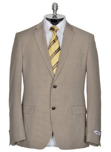 DKNYDKNY Slim Fit Sportcoat 42 Long 42L Wool Blend Taupe Stripe Lightweight