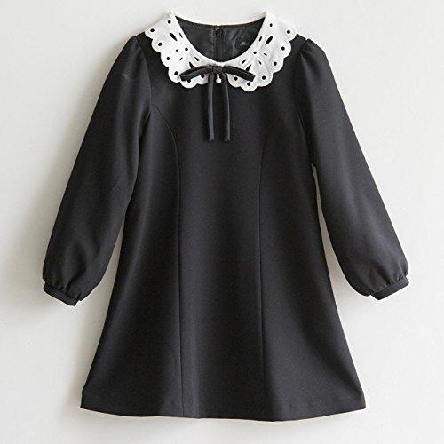 (キャサリンコテージ) Catherine Cottage入学式 子供服 女の子 フォーマル 白襟ワンピース 120cm ブラック(黒)