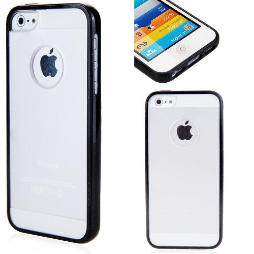 i-Blason CandyGel Semi-Transparent Slim Fit Air Jacket Case for Apple New iPhone 5 AT&T, Sprint, Verizon 4G LTE with Bonus Screen Protector Retail Packaging (Black)