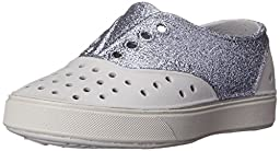 Native Miller Glitter Child Slip On Sneaker (Toddler/Little Kid), Pigeon Grey/Pigeon Grey/Glitter, 13 M US Little Kid
