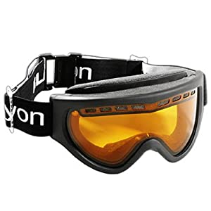 Black Canyon BC660DH Double Lensed Ski Goggles With Air Vents - One Size, Black