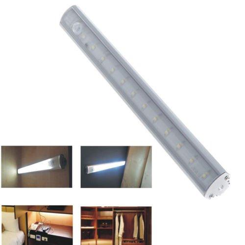 Pir Motion Sensor Led Light Cabinet Wardrobe Kitchen Cupboard Closet Lamp 30Cm