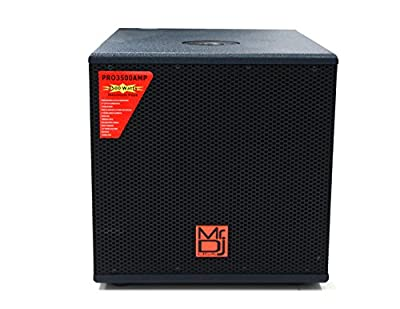 "Mr. Dj PRO3500AMP 12"" 3500W Professional Series Active/Pre Amplified Subwoofer. from Mr. Dj Inc."