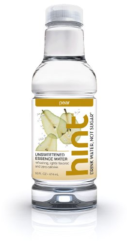 Hint Premium Essence Water, Pear, 16-Ounce Bottles (Pack of 12)