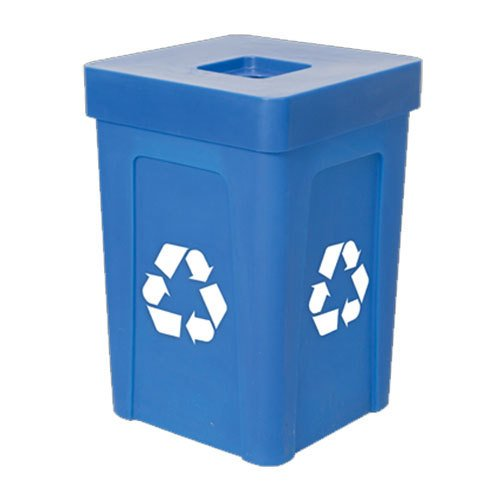 Blue Stacking Flat Lid Recycle Bin 48 Gallon Review Craigupatrickeu