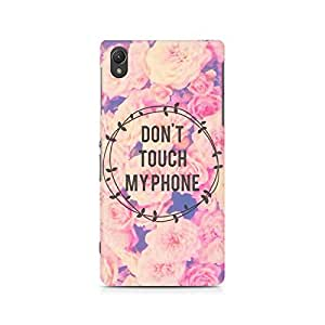 Motivatebox- Don't Touch it Premium Printed Case For Sony Xperia Z5 Dual -Matte Polycarbonate 3D Hard case Mobile Cell Phone Protective BACK CASE COVER. Hard Shockproof Scratch-