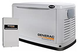 6053 Generac Guardian 17kW Air Cooled Standby Generator, Aluminum Enclosure, Pre-Packaged w/200 amp Service Rated Automatic Transfer Switch