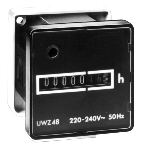 Intermatic Uwz48-240U Screw Terminals, 240V, 60Hz Ac Hour Meters Surface Mount