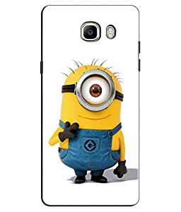 EU4IA Desicable Me Minnion Pattern MATTE FINISH 3D Back Cover Case For GALAXY...