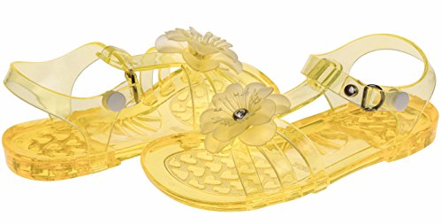 Chatties Toddler Girls Jelly Sandals - Yellow, Size 11 / 12 (More Colors and Sizes Available) (Heeled Jelly Sandals compare prices)