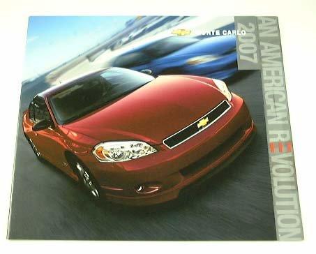 2007 07 Chevrolet Chevy MONTE CARLO BROCHURE