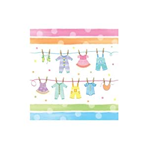 Creative Converting Baby Shower Baby Clothes Border Print