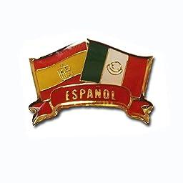 Español Flags Pin Set of 10