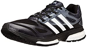 adidas Men's Response Boost Techfit M Running Shoe, Core Black/Metallic Silver/Dark Orange, 11 M US