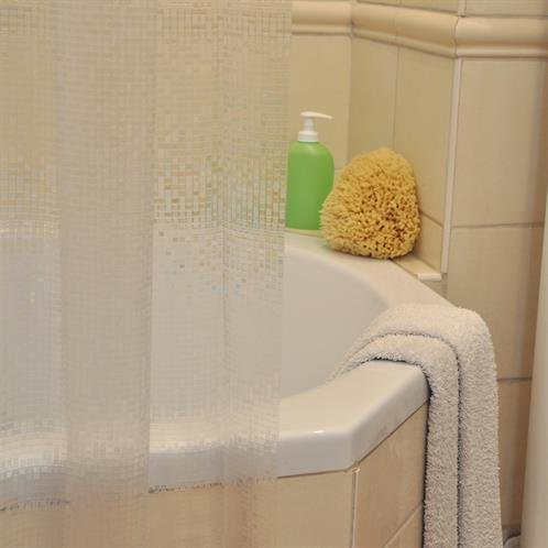 Duschvorhang 3D durchsichtig mit Kästchen 33210 AT, 10002004