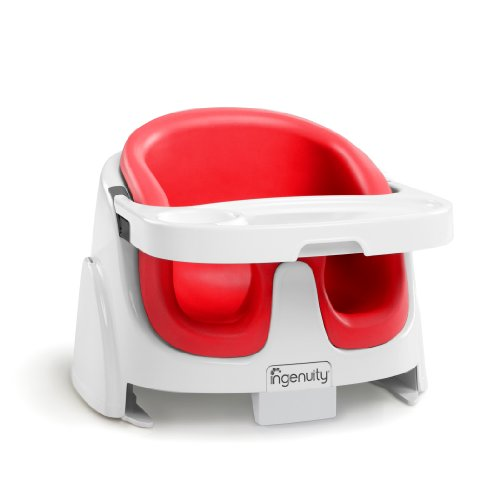 Ingenuity Baby Base 2-in-1 Booster Seat, Poppy Red