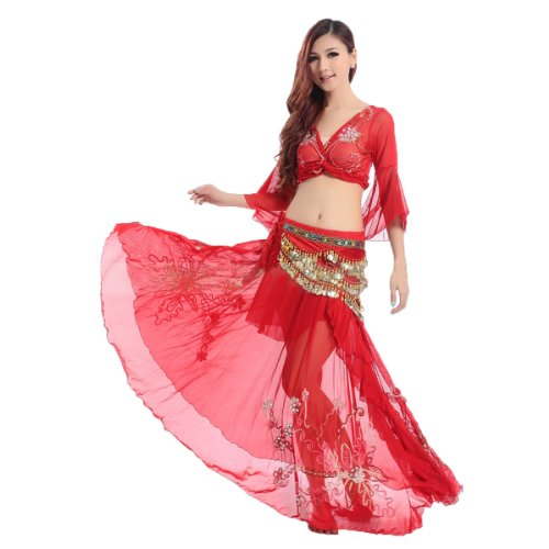 HOTER® Belly Dancing Embroidery Dancing Costumes Set, A Three-Piece, Price/Set