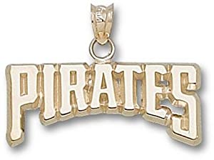 Pittsburgh Pirates 3 8 Pirates Pendant - 10KT Gold Jewelry by Logo Art