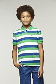 Boy's Short Sleeve Bold Stripe Pique Polo