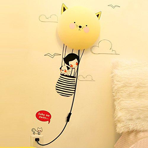 Foxnovo® 3D Cute Diy Home Children'S Room Decor Wallpaper Wall Sticker Night Light Lamp (Journey) front-638416