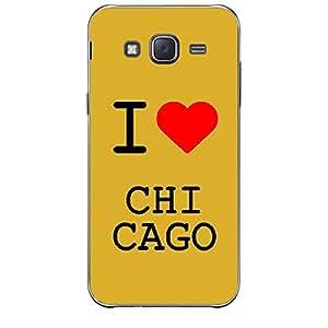 Skin4gadgets I love Chicago Colour - White Phone Skin for SAMSUNG GALAXY J5