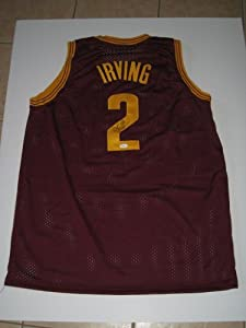 Kyrie Irving Autographed Signed Maroon Cleveland Cavaliers Basketball Jersey #2 (JSA... by Miller