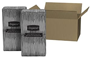Depend Underwear for Men Maximum Absorbency Economy Plus Pack, Large and X-Large, 52 Count from Depend