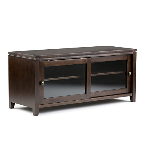 Simpli Home Cosmopolitan Stand for TV's up to 52-Inch, Coffee Brown (Sliding Tv Table compare prices)