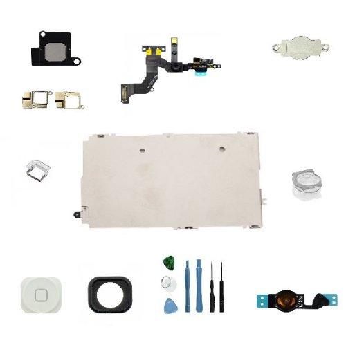 Sellicase© Full Set Parts For Iphone 5 Lcd Display & Touch Screen Digitizer Assembly+ White Home Button