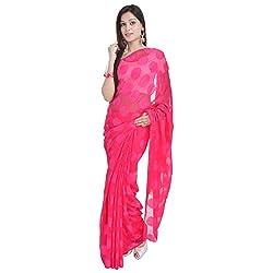 Prateek Retail Ethnic Pink Designer Georgette saree