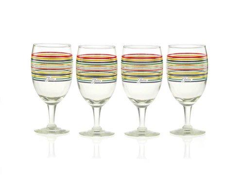 Fiesta Multi-Color Stripe Glassware, 16-Ounce