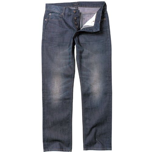 Firetrap Mens Rom Regular Fit Jeans Dark Wash
