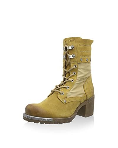 Fly London LUGA, Damen Desert Boots, Mehrfarbig (MUSTARD/BEIGE 005), 39 EU