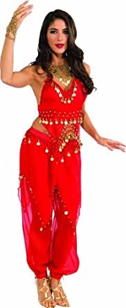 Rubie's Costume Deluxe Embellished Belly Dancer, Red, Small Costume