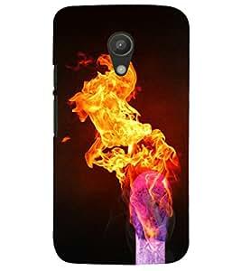 PRINTSHOPPII FIRE STICK Back Case Cover for Motorola Moto G2 X1068::Motorola Moto G (2nd Gen)