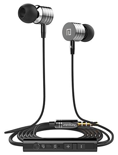 BeatzAudio In-Ear Headphones with Microphone Volume Control for Cellphones (Black) (Black Head Phones With Microphone compare prices)