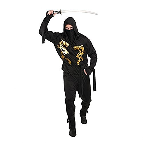Black Dragon Ninja Adult Costume - Standard