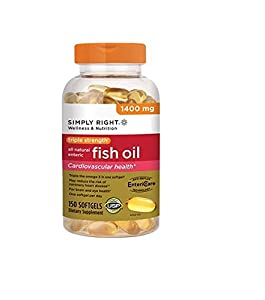 Simply Right Triple Strength Fish Oil 1400mg 150 Ct From