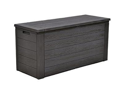 Auflagenbox 300 Liter in Schwarz Holzoptik von D&S Vertriebs GmbH bei Gartenmöbel von Du und Dein Garten