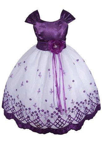 Amj Dresses Inc Girls Purple Flower Girl Easter Dress Size 10