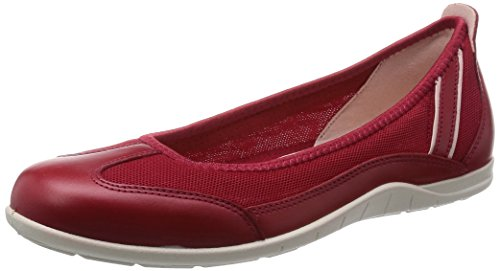 Ecco - Ecco Bluma, ballerine da donna, rosso (rot (chili red/rose dust)), 36 EU