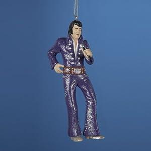 """Elvis Presley Purple """"Owl"""" Jumpsuit Christmas Ornament 4.75"""""""