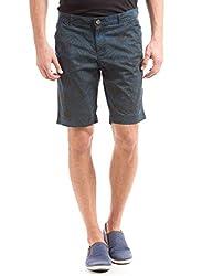 Shuffle Men's Cotton Stretch Shorts (8907423003255_2021516802_32_Navy)