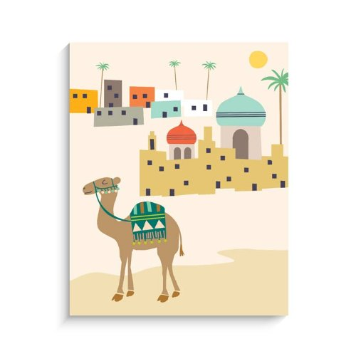 "Lucy Darling Camel Print Wall Decor, 8"" x 10"""