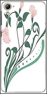Snoogg Creative Vintage Flourish Designer Protective Back Case Cover For HTC Desire 826
