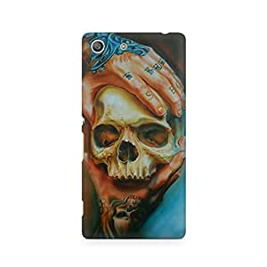Mobicture Skull Abstract Premium Printed Case For Sony Xperia M5