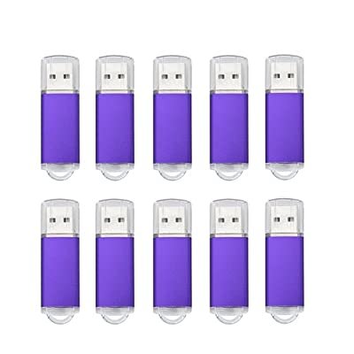 Joiot(TM) 10pcs 2GB USB 2.0 Thumb Flash Drive Memory Stick USB Storage(Bulk, Purple)