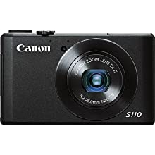 Canon PowerShot S110 12MP Point-and-Shoot Digital Camera (Black) with 4GB SDHC Card, Camera Case