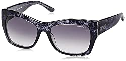 Guess Marciano UV Protected Butterfly Women's Sunglasses - (GM715BLK-3555|50|Black lens)